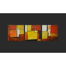 Orange & Yellow Abstract Artwork