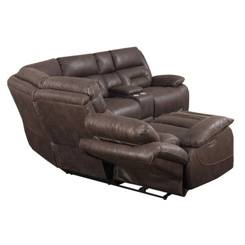 Aria LAF LS,SaddleBrown, 1 Pwr-Pwr Recliner 62x44x42.5