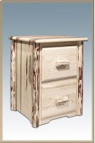 Montana Log 2 Drawer File Cabinet Product Image