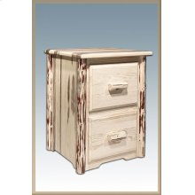 Montana Log 2 Drawer File Cabinet