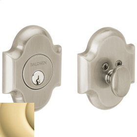 Non-Lacquered Brass Arched Deadbolt