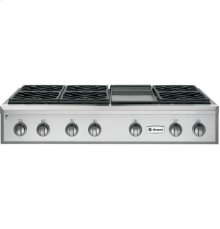 "GE Monogram® 48"" Professional Gas Rangetop with 6 Burners and Griddle (Liquid Propane)"