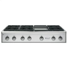 """GE Monogram® 48"""" Professional Gas Rangetop with 6 Burners and Griddle (Liquid Propane)"""