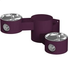 Elkay Outdoor Drinking Fountain Wall Mount, Bi-Level, Non-Filtered Non-Refrigerated, Purple