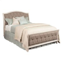 Upholstered Cal King Bed Complete