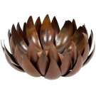 Artichoke Pillar Candle Holder - Burnt Copper W / Clear P / Coat Product Image
