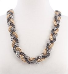 BTQ Braided Metallic Necklace