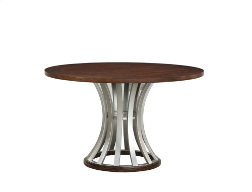 """Emerald Home Oxford Hills 60"""" Round Gathering Table With Pedestal Base-d431-16-k"""
