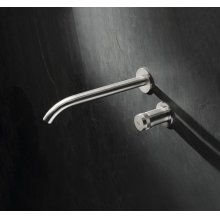 Two hole wall mounted mixer.