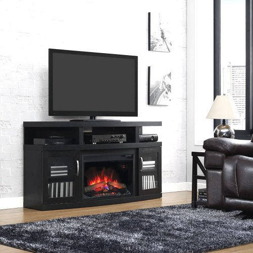 Cantilever TV Stand with Electric Fireplace