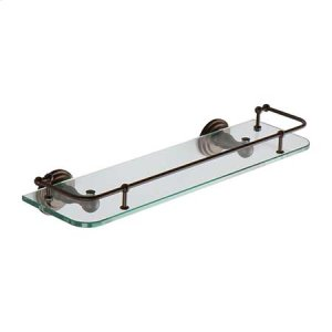 """Oil Rubbed Bronze - Hand Relieved 18"""" Gallery Rail Shelf"""