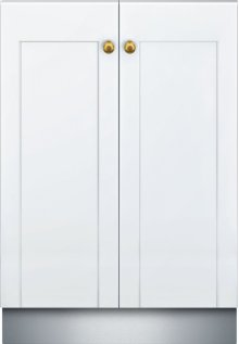 24-Inch Custom Panel Glass Care Center DWHD771WPR