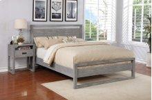 Vadstena Bed - Cal King, Grey Finish