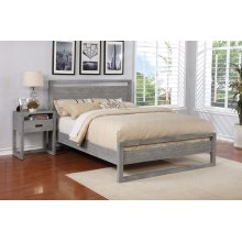 Vadstena Bed - Cal King, Grey Finish