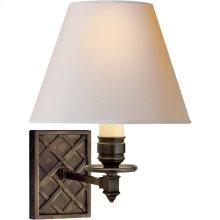 Visual Comfort AH2015GM-NP Alexa Hampton Gene 1 Light 8 inch Gun Metal Single-Arm Sconce Wall Light