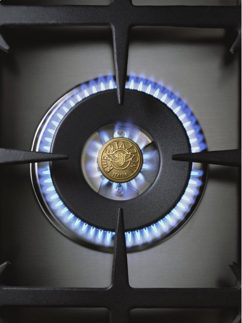 48 6-Burner + Griddle, Gas Double Oven Matt Black