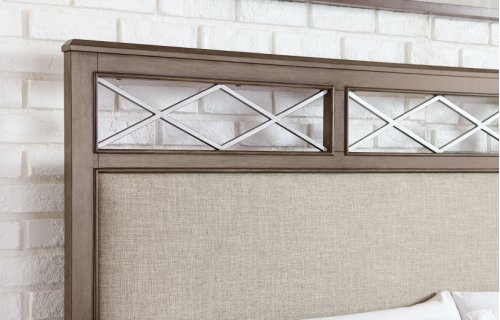 Apex Upholstered Platform Bed w/Storage, CA King 6/0