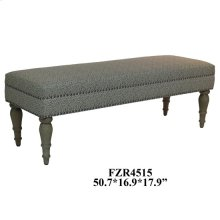 Savannah Grey Tiger Linen Bench