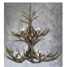 13 Light 2 Tier Mule Deer Chandelier Product Image