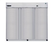 Refrigerator, Three Section Upright, Full Stainless Door