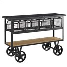 Fairground Serving Stand in Brown Product Image