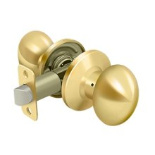 Egg Knob Passage - PVD Polished Brass