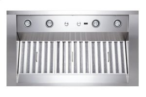 "Classico - 42"" Stainless Steel Pro-Style Range Hood with internal/external blower options"