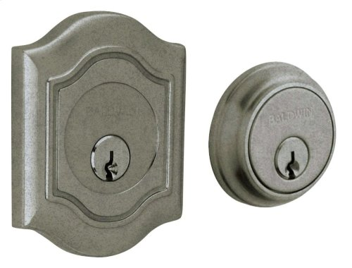 Distressed Antique Nickel Bethpage Deadbolt