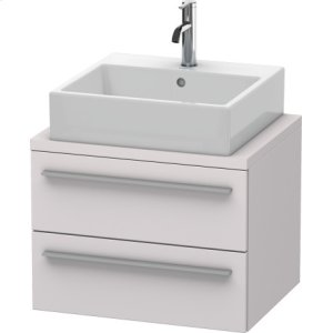 X-large Vanity Unit For Console Compact, White Lilac Satin Matt Lacquer
