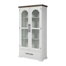 Locksmith 2-door 1-drawer Cabinet With Bookcase Shelves