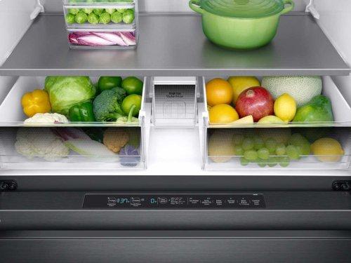 """23 cu ft. Capacity Counter Depth 4-Door French Door 36"""" Freestanding Chef Collection Refrigerator"""