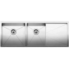 Blanco Precision 16'' R10 1-3/4 Bowl With 16'' Drainer - Satin Polished Finish