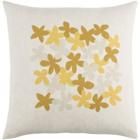 """Little Flower LE-002 18"""" x 18"""" Pillow Shell with Down Insert"""