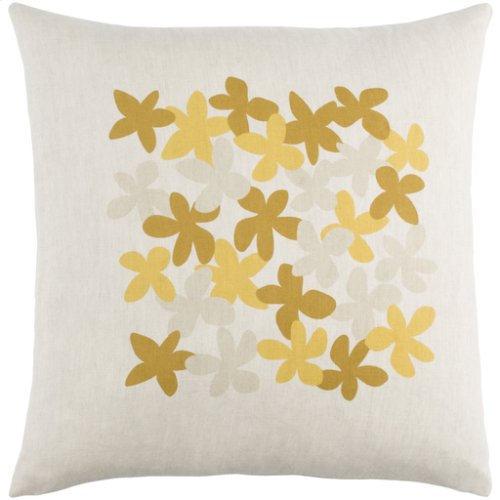 "Little Flower LE-002 20"" x 20"" Pillow Shell with Down Insert"