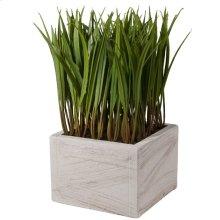 Faux-Grass Square Planter