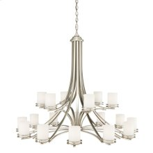 Hendrik 18 Light 2 Tier Chandelier Brushed Nickel