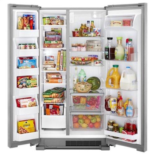 Whirlpool® 36-inch Wide Side-by-Side Refrigerator - 25 cu. ft. - Fingerprint Resistant Stainless Steel