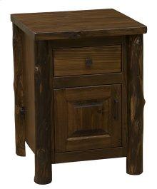 Enclosed Nightstand Modern Cedar