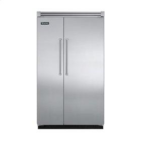 "Stainless Steel 48"" Quiet Cool™ Side-by-Side Refrigerator/Freezer - VISB Tru-Flush™ (48"" wide)"