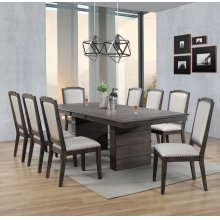 DLU-CA113 Collection  9 Piece Extendable Dining Table Set