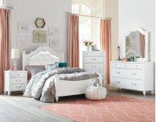 Olivia Twin Bedroom Group: Twin Bed, Nightstand, Dresser & Mirror