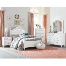 Olivia Twin Bedroom Set: Twin Bed, Nightstand, Dresser & Mirror