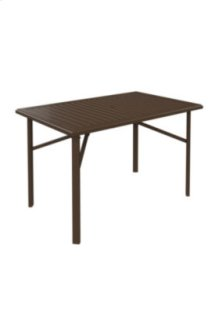 "Banchetto 66"" x 42"" Rectangular Bar Umbrella Table"