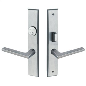 Satin Chrome Lakeshore Escutcheon Entrance Set