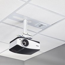 Suspended Ceiling Projector System with Storage