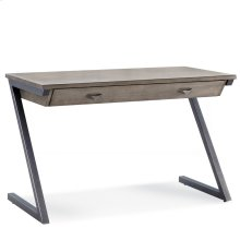 Z-Leg Mixed Metal and Wood Laptop Computer Desk #84403