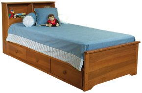 Dover Bookcase Headboard Mates Bed-3 Drawer