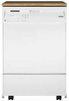 White-on-White Portable Dishwasher