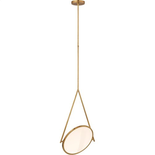 Visual Comfort PB5006NB Peter Bristol Dot Stance LED 19 inch Natural Brass Pendant Ceiling Light