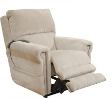 Power Headrest w/Lumbar Power Lay Flat Recliner - Putty
